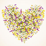 Άγρια καρδιά λουλουδιών Στοκ Φωτογραφίες