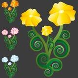 Άγρια ομάδα λουλουδιών λουλουδιών Στοκ Εικόνα