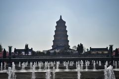 Άγρια παγόδα χήνων, πύργος σε Xian, Shaanxi Κίνα στοκ φωτογραφίες