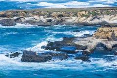 Άγρια παράλια Ειρηνικού στο χώρο σημείου στοκ εικόνα