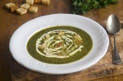 Άγρια σούπα σκόρδου και πατατών Στοκ φωτογραφία με δικαίωμα ελεύθερης χρήσης
