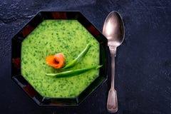Άγρια σούπα σκόρδου με το σολομό Στοκ Εικόνα