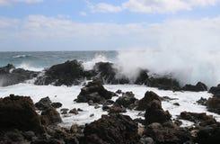 Άγρια σπάζοντας κύματα στη Ανατολική Ακτή Lanzarote Στοκ φωτογραφία με δικαίωμα ελεύθερης χρήσης