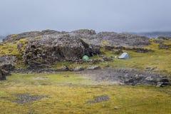 Άγρια στρατοπέδευση στην Ισλανδία στοκ φωτογραφία με δικαίωμα ελεύθερης χρήσης