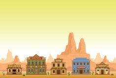 Άγρια δυτική πόλη ελεύθερη απεικόνιση δικαιώματος