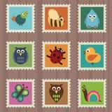 άγρια φύση γραμματοσήμων Στοκ εικόνες με δικαίωμα ελεύθερης χρήσης