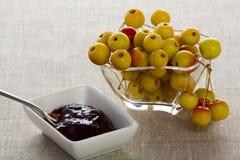 Άγριες μήλα και μαρμελάδα Στοκ εικόνα με δικαίωμα ελεύθερης χρήσης
