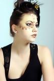 Άγριες Makeup και τρίχα Στοκ Εικόνα