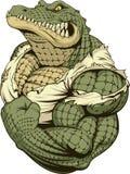 Άγριος ισχυρός κροκόδειλος ελεύθερη απεικόνιση δικαιώματος