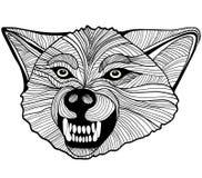 Άγριος λύκος. Διανυσματική γραφική παράσταση Στοκ Εικόνες