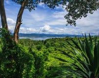 Άγριο δάσος μπροστά από το μπλε φράγμα Srinakarin με το σαφή μπλε ουρανό, επαρχία Kanchanaburi, Ταϊλάνδη, Νοτιοανατολική Ασία Στοκ Εικόνες