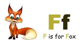 Άγριο ζώο αλεπούδων με το alphabate Στοκ εικόνα με δικαίωμα ελεύθερης χρήσης