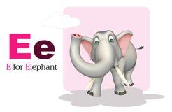 Άγριο ζώο ελεφάντων με το alphabate Στοκ φωτογραφία με δικαίωμα ελεύθερης χρήσης
