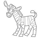 Άγριο ζώο κινούμενων σχεδίων - χρωματίζοντας σελίδα για τα παιδιά ελεύθερη απεικόνιση δικαιώματος