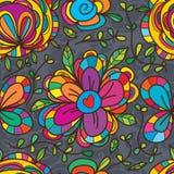 Άγριο μεγάλο άνευ ραφής σχέδιο λουλουδιών Στοκ Εικόνες