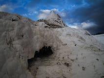 Άγριο τοπίο Pamukkale, Τουρκία Στοκ φωτογραφία με δικαίωμα ελεύθερης χρήσης