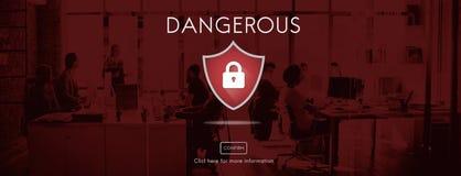 Άγρυπνη έννοια σημαδιών προσοχής Beware προσοχής ασφάλειας στοκ εικόνα με δικαίωμα ελεύθερης χρήσης