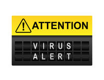Άγρυπνη προειδοποίηση ιών ελεύθερη απεικόνιση δικαιώματος
