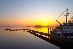 άδεια αλιείας βαρκών έτοιμη Στοκ εικόνα με δικαίωμα ελεύθερης χρήσης