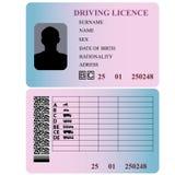 Άδεια οδήγησης. Στοκ Εικόνες