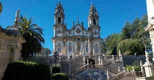 Άδυτο της κυρίας Remedios μας σε Lamego, Πορτογαλία στοκ εικόνα
