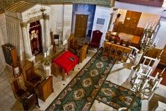 Άδυτο της συναγωγής, ιερό των holies, η θέση της κράτησης στοκ εικόνα