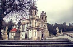 Άδυτο Bom Ιησούς do Monte Δημοφιλές ορόσημο και προσκύνημα στοκ φωτογραφίες με δικαίωμα ελεύθερης χρήσης