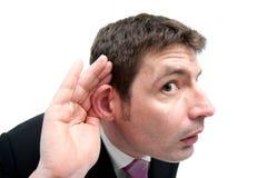 Άκουσμα επιχειρηματιών Στοκ φωτογραφία με δικαίωμα ελεύθερης χρήσης