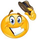 Άκρη καπέλων emoticon Διανυσματική απεικόνιση