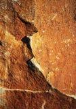 Άκρη λεπτομέρειας στον κόκκινο βράχο Στοκ φωτογραφίες με δικαίωμα ελεύθερης χρήσης