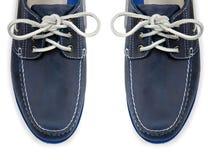 Άκρη παπουτσιών που απομονώνεται των αθλητικών στο λευκό Στοκ Φωτογραφία