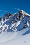 άκρη σκι παγόβουνων αλπινιστών στοκ φωτογραφία με δικαίωμα ελεύθερης χρήσης