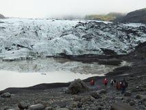 Άκρη lheimajökull του παγετώνα Sà ³ στο νότο της Ισλανδίας στοκ εικόνες με δικαίωμα ελεύθερης χρήσης