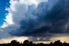 Άκρο, θυελλώδης καιρός στη Γερμανία Στοκ Φωτογραφία