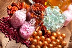 Άλας λουτρών για aromatherapy Στοκ Φωτογραφία