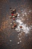 άλας πιπεριών ανασκόπηση μαγειρική Στοκ εικόνες με δικαίωμα ελεύθερης χρήσης
