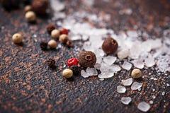 άλας πιπεριών ανασκόπηση μαγειρική Στοκ εικόνα με δικαίωμα ελεύθερης χρήσης