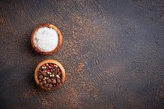 άλας πιπεριών ανασκόπηση μαγειρική Στοκ Εικόνες