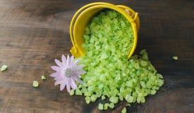 Άλατα λουτρών εναλλακτική ιατρική salt spa θεραπεία λουτρών helthcare Άρωμα της φύσης Στοκ Εικόνες