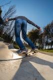 άλεσμα skateboarder στοκ φωτογραφία με δικαίωμα ελεύθερης χρήσης