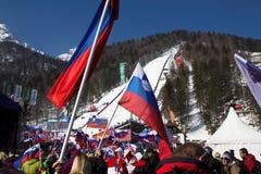 Άλματα σκι Planica Στοκ φωτογραφίες με δικαίωμα ελεύθερης χρήσης