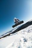 άλμα του χιονιού snowboarder Στοκ φωτογραφίες με δικαίωμα ελεύθερης χρήσης