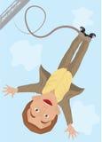 άλμα bungee Διανυσματική απεικόνιση