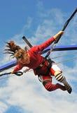 άλμα bungee Στοκ εικόνα με δικαίωμα ελεύθερης χρήσης