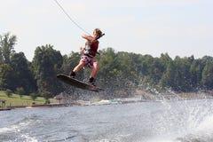 άλμα wakeboard Στοκ Φωτογραφία