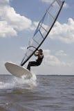 άλμα windsurfer Στοκ εικόνα με δικαίωμα ελεύθερης χρήσης