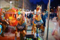 Άλογα ιπποδρομίων από την πλατεία Universitatea - πόλη Ρουμανία του Βουκουρεστι'ου Στοκ φωτογραφία με δικαίωμα ελεύθερης χρήσης