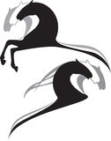 άλογα κινούμενων σχεδίων Στοκ εικόνα με δικαίωμα ελεύθερης χρήσης
