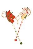 άλογα Χριστουγέννων Στοκ εικόνες με δικαίωμα ελεύθερης χρήσης