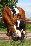 άλογο εκπαίδευσης αλό&gamm Στοκ εικόνες με δικαίωμα ελεύθερης χρήσης